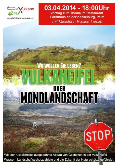 Plakat Vulkaneifel am Scheideweg