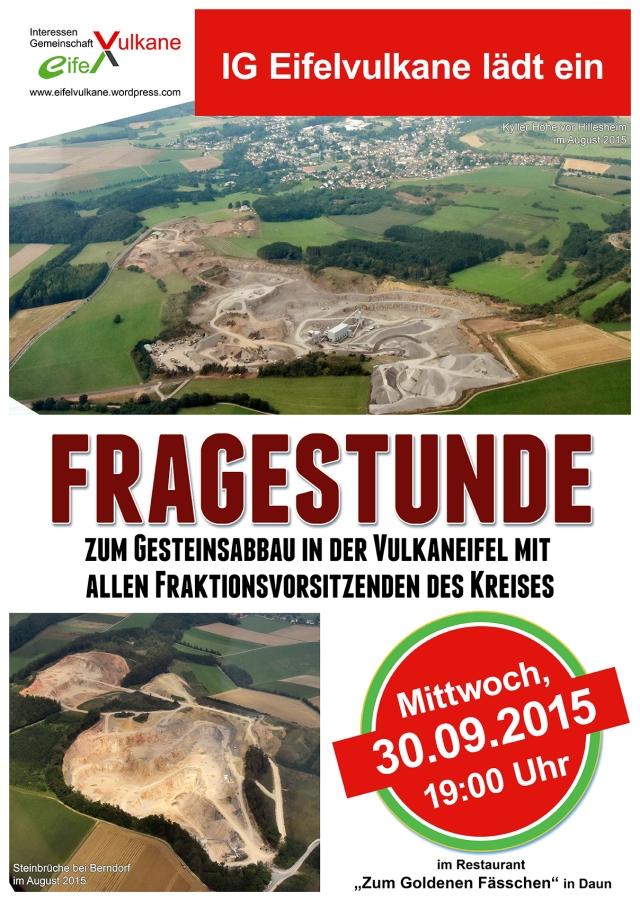 Einladung Fragestunde Fraktionsvorsitzende Kreistag 30.9.2015