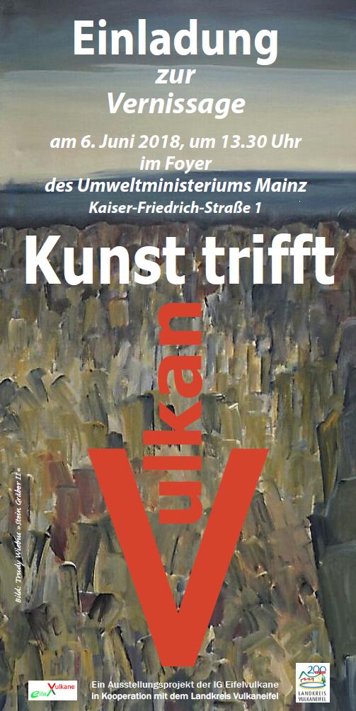 Einladung zur Vernissage am 6.6.2018 Umweltministerium Mainz